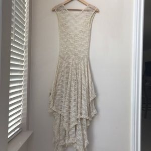 Free People French Courtship ivory lace dress NWOT